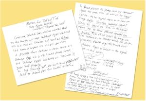 Deborah Dolen Handwriting